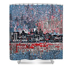 Philadelphia Skyline Abstract Shower Curtain