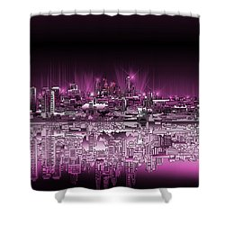 Philadelphia Skyline  Gradient 2 Shower Curtain