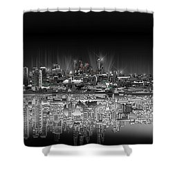 Philadelphia Skyline  Gradient Shower Curtain