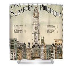 Philadelphia Skyscrapers Shower Curtain by Georgia Fowler