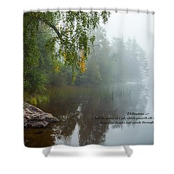 Philippians 4 Verse 7 Shower Curtain by Rose-Maries Pictures