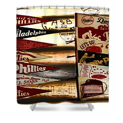Phillies Pennants Shower Curtain by Bill Cannon