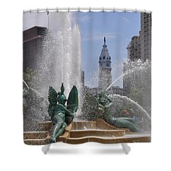 Philly Fountain Shower Curtain by Bill Cannon