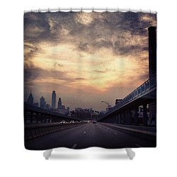 Philly Shower Curtain by Katie Cupcakes