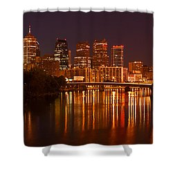 Philly Lights Reflected Shower Curtain
