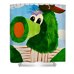Philly Phanatic Shower Curtain by Trish Tritz