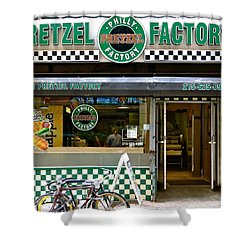 Philly Pretzel Factory Shower Curtain