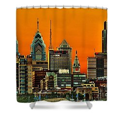 Philly Sunset Shower Curtain