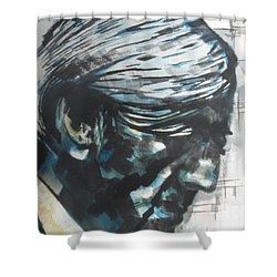 Philospher Jiddu Krishnamurti Shower Curtain by Chrisann Ellis