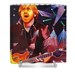 Phish Full Band Anastasio Shower Curtain by Joshua Morton
