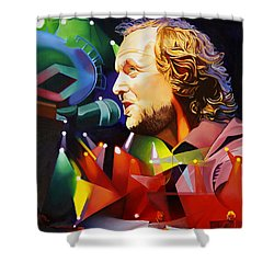 Phish Full Band Mcconnell Shower Curtain by Joshua Morton