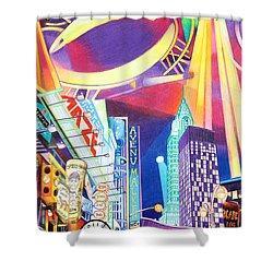 Phish New Years In New York Left Panel Shower Curtain by Joshua Morton