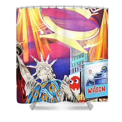 Phish New Years In New York Right Panel Shower Curtain by Joshua Morton
