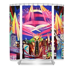 Phish New York For New Years Triptych Shower Curtain