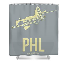 Phl Philadelphia Airport Poster 1 Shower Curtain