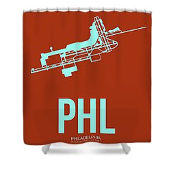 Phl Philadelphia Airport Poster 2 Shower Curtain