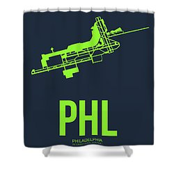 Phl Philadelphia Airport Poster 3 Shower Curtain