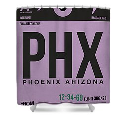 Phoenix Airport Poster 1 Shower Curtain by Naxart Studio