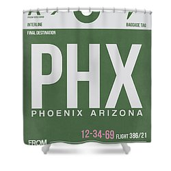 Phoenix Airport Poster 2 Shower Curtain by Naxart Studio