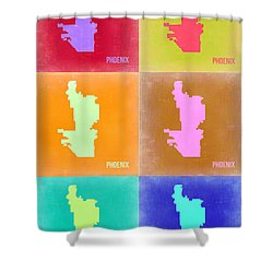 Phoenix Pop Art Map 3 Shower Curtain by Naxart Studio