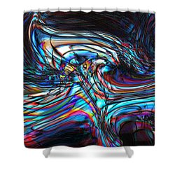 Shower Curtain featuring the digital art Phoenix by Richard Thomas
