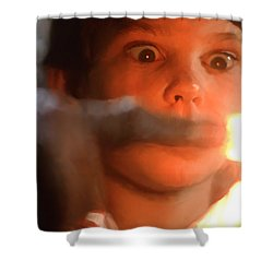 Phone Home Shower Curtain by Paul Tagliamonte