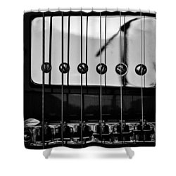 Phone Pole Reflection Shower Curtain