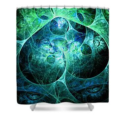 Phosphorescence Shower Curtain by Anastasiya Malakhova