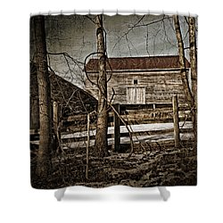 Country Barn Photograph Shower Curtain