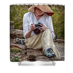 Photographer Shower Curtain by Linda Unger