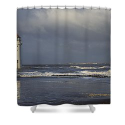 Photographing The Photographer Shower Curtain
