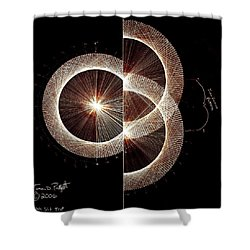 Photon Double Slit Test Hand Drawn Shower Curtain by Jason Padgett