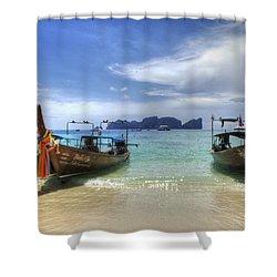 Phuket Koh Phi Phi Island Shower Curtain by Bob Christopher