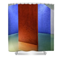 Physical Abstraction Shower Curtain by Lynn Palmer