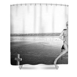Physical Manifestations - Self Portrait Shower Curtain by Jaeda DeWalt