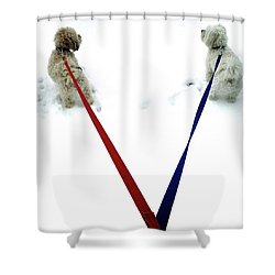 Pia And Pelle Shower Curtain by Natasha Marco