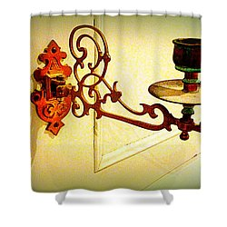 Piano Candle Holder Shower Curtain by The Creative Minds Art and Photography