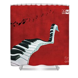 Piano Fun - S01at01 Shower Curtain