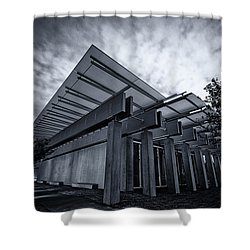 Piano Pavilion Bw Shower Curtain by Joan Carroll