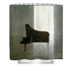 Piano Room 2005 Shower Curtain by Lincoln Seligman