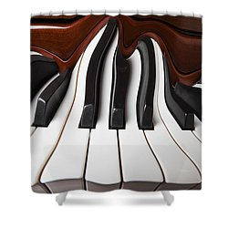 Piano Wave Shower Curtain by Garry Gay