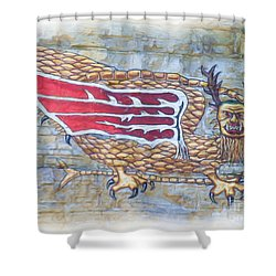 Shower Curtain featuring the photograph Piasa Bird In Oils by Kelly Awad