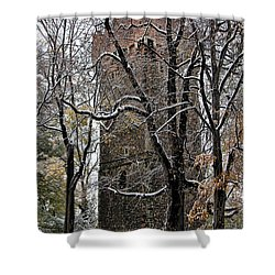 Piastowska Tower In Cieszyn Shower Curtain by Mariola Bitner