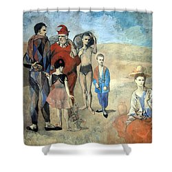 Picasso's Family Of Saltimbanques Shower Curtain by Cora Wandel