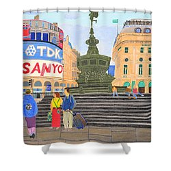 London- Piccadilly Circus Shower Curtain by Magdalena Frohnsdorff
