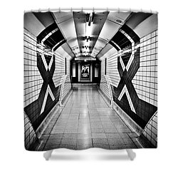 Piccadilly Circus Subway Shower Curtain