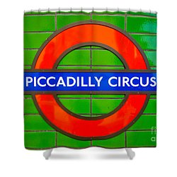 Shower Curtain featuring the photograph Piccadilly Circus Tube Station by Luciano Mortula