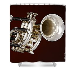 Piccolo Trumpet Music Instrument In Color 3020.2 Shower Curtain