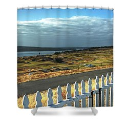 Shower Curtain featuring the photograph Picket Fence - Chambers Bay Golf Course by Chris Anderson