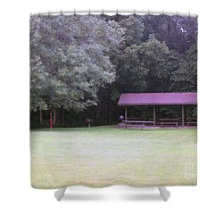 Picnic Shelter Shower Curtain